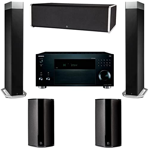 Definitive Technology BP9080X 5 Speaker System with Onkyo TX-RZ1100