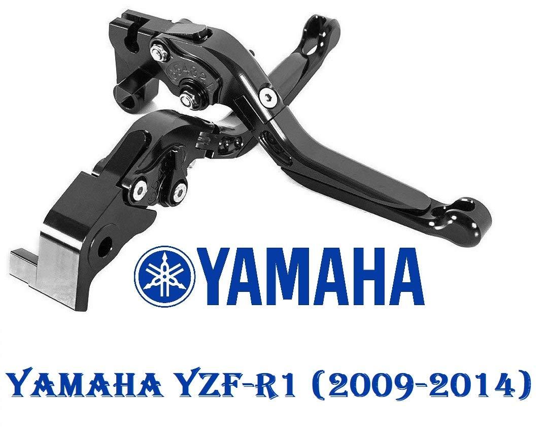 corto Maneta palanca de embrague y de freno regulable con logo para Yamaha YZF-R1 2015-2017