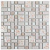 "pink bathroom tile SomerTile FKOUV413 Academy Porcelain Floor and Wall Tile, 11.75"" x 11.75"", Pink"