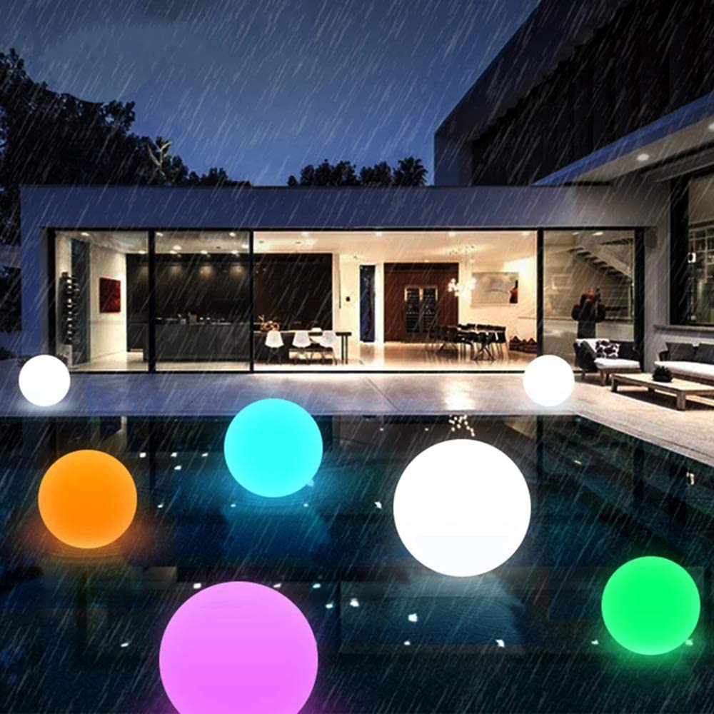 Floating Pool Lights Battery Powered Wateproof 16 Color Changing Ball Night Lights 4 Modes Swimming Pool LED Lights with Remote Garden Backyard Pond Pathway Party Decorations