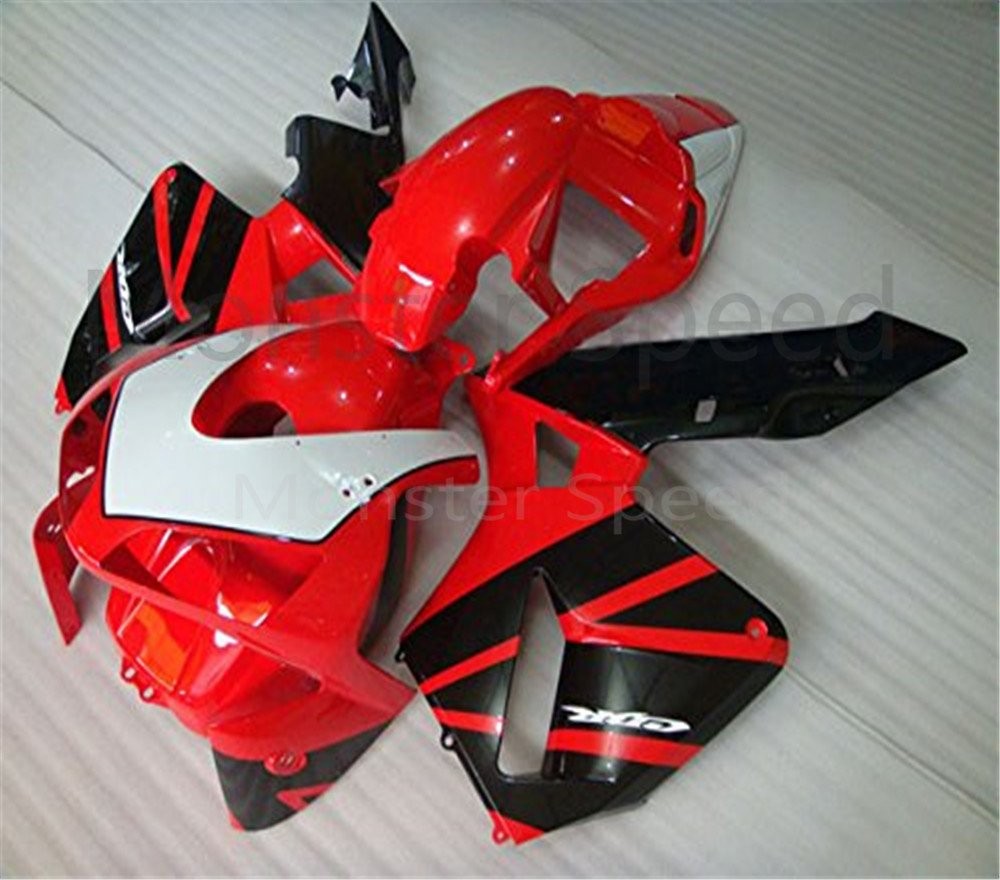 ABS Red Black Complete Fairing Kit Injection Fit for 2003-2004 HONDA CBR600RR F5 #G