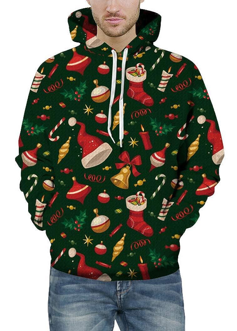 Prettyard Men Women Christmas Element Gift Fun Digital Graphic Sweatshirt Hoodie
