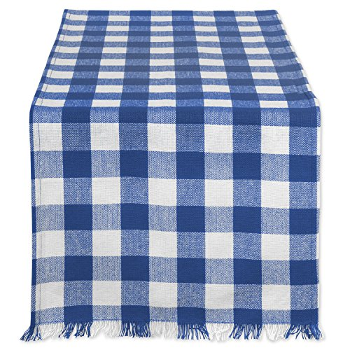 DII Cotton Woven Heavyweight Table Runner with Decorative Fringe for Spring, Summer, Family Dinners, Outdoor Parties, & Everyday Use (14x108
