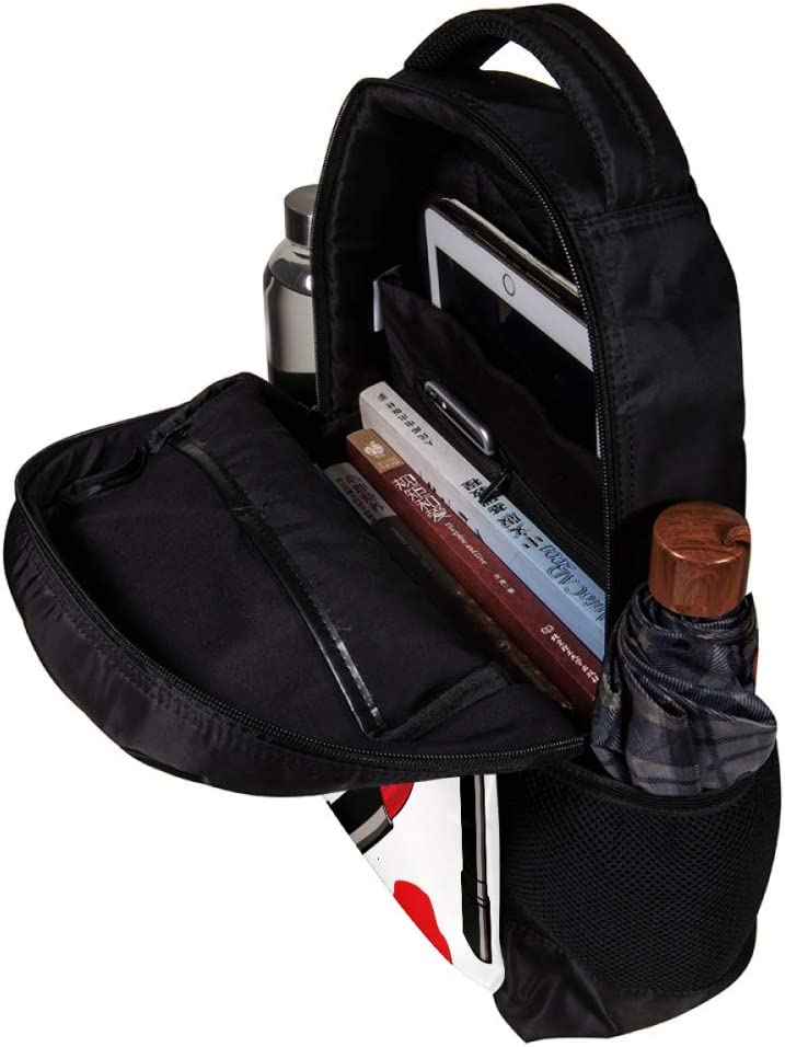 MAPOLO Lipstick Red Lips School Backpack Travel Bag Rucksack College Bookbag Travel Laptop Bag Daypack Bag for Men Women