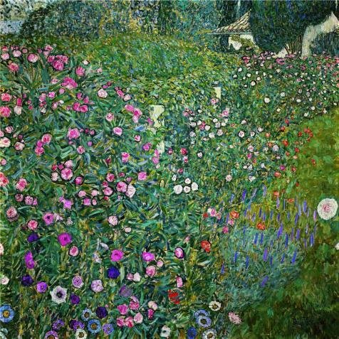 - Perfect Effect Canvas ,the High Quality Art Decorative Canvas Prints Of Oil Painting 'Gustav Klimt,Italian Garden Landscape,1917', 8x8 Inch / 20x20 Cm Is Best For Kitchen Gallery Art And Home Decor And Gifts