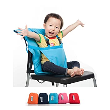 Ghaziman Baby Portable High Chair Travel Highchair Safety Harness Foldable Baby Easy Seat (Blue)  sc 1 st  Amazon.com & Amazon.com : Ghaziman Baby Portable High Chair Travel Highchair ...