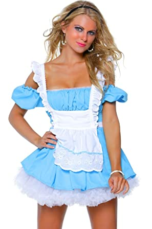 "1e11911cb78a Image Unavailable. Image not available for. Color: 3WISHES ""Fantasy  Alice Costume"" Sexy Wonderland Halloween Costumes ..."