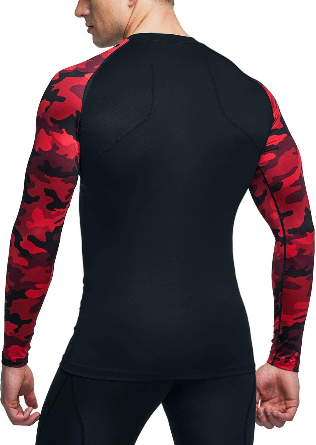 ATHLIO Mens Cool Dry Fit Long Sleeve Compression Shirts Active Sports Base Layer T-Shirt Athletic Workout Shirt