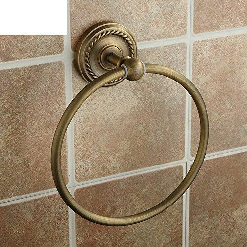 Antique towel ring/All-copper bathroom hardware accessories/European Round towel - 5161 Round White