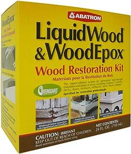 Abatron Wood Restoration 24 Ounce Kit – Includes 12 Fluid Ounces of LiquidWood Epoxy Wood Hardener/Consolidant and 12 Fluid Ounces of WoodEpox Epoxy Wood Filler