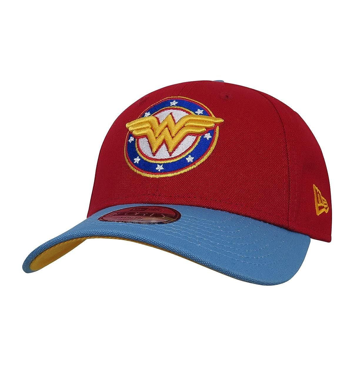 SuperHeroStuff Wonder Woman Stars and Stripes Logo 9Forty Adjustable Kids Hat Red