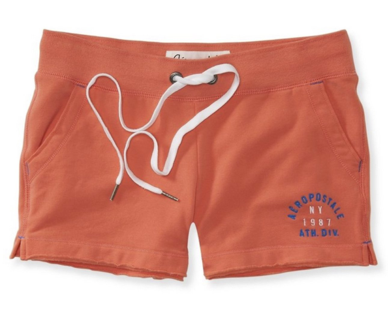 Aeropostale Womens Heritage Shorty Athletic Sweat Shorts X-Small Coral