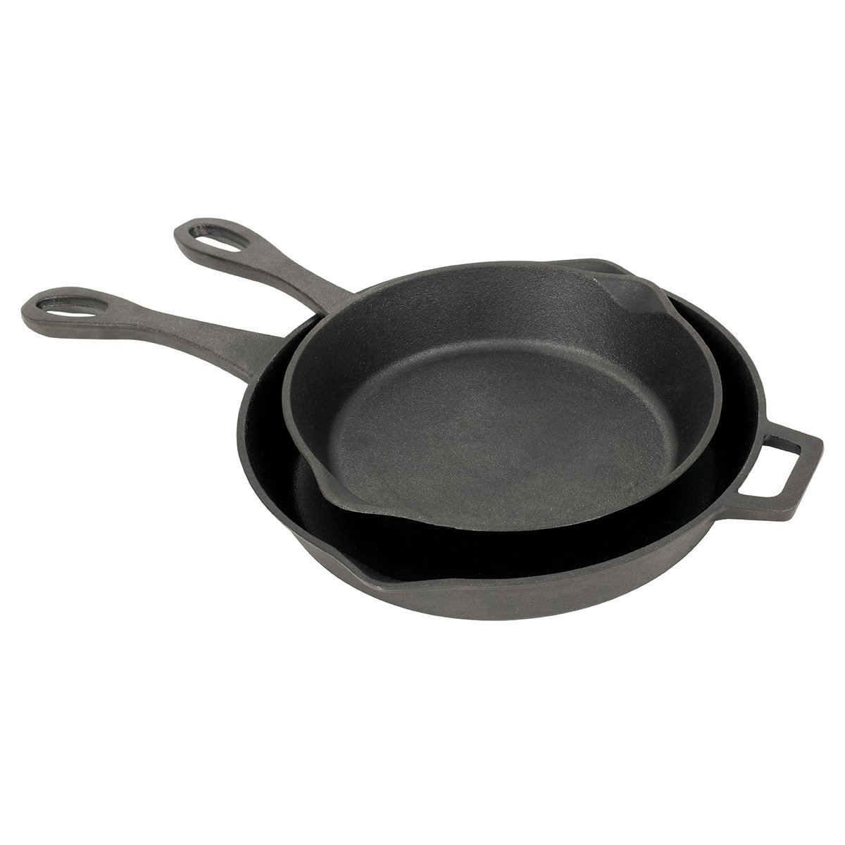 Bayou Classic 7451 Cast Iron Skillet Set, 10-Inch and 12-Inch, Black Cast Iron