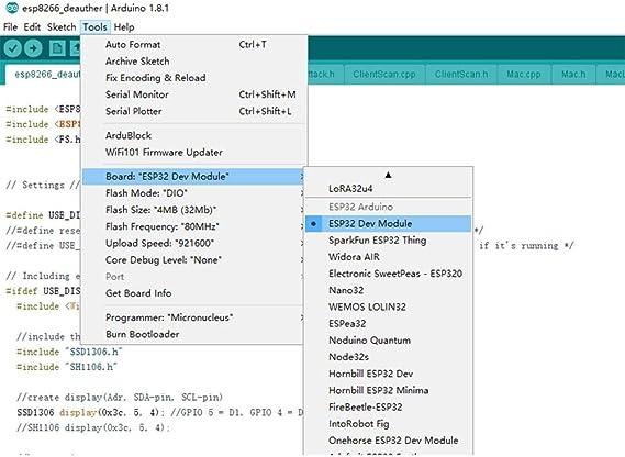 Rlorie 0,96 Pulgadas OLED Azul WiFi, Tarjeta de Interfaz Serial ...