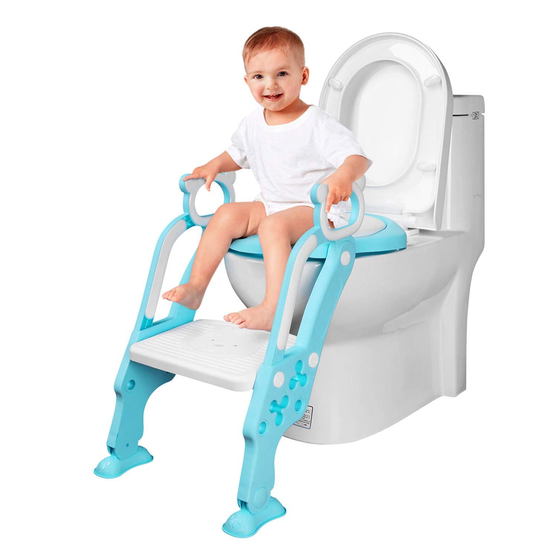 Asiento Inodoro para Niños, Reductor de WC para Bebé, Reductor Infantil como Protector, Orinal de Bebé con Compacto y Portátil para Viajes Reductor de WC para Bebé Orinal de Bebé con Compacto y Portátil para Viajes AiKiddo