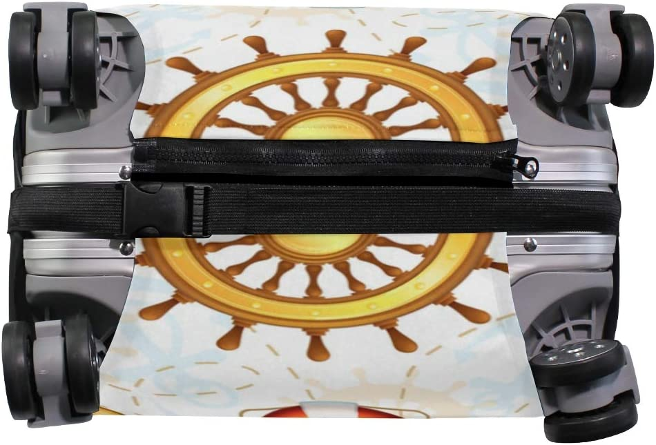 Travel Luggage Cover Marine Pattern Compass Ship Anchor Suitcase Protector