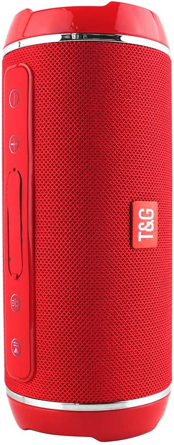 TG 116 Wireless Bluetooth Speaker Outdoor Stereo Bass USB/TF/FM Radio Audio, IPX3 Waterproof, Suitable for All moble Phones/Tablets/Computer/Laptop (Red)