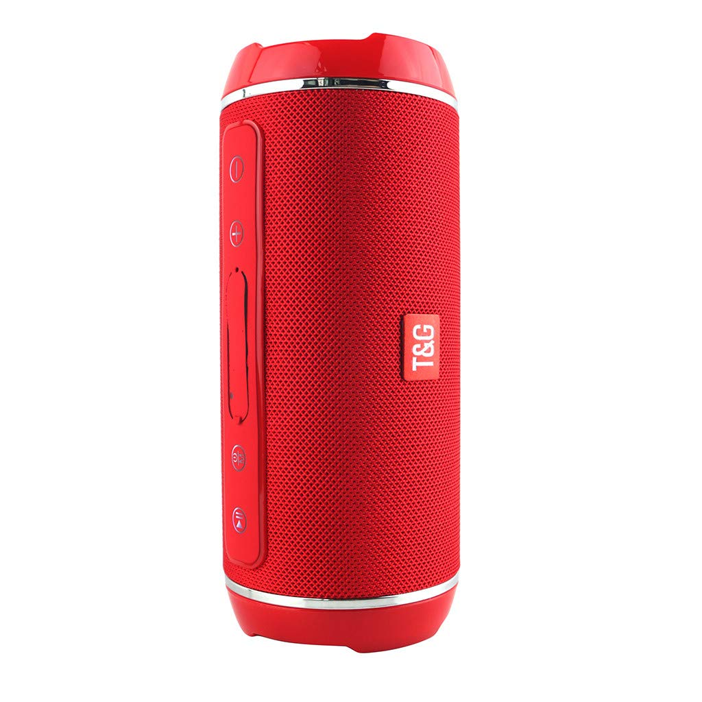 con HD Audio y Manos Libres Radio FM Antena Construido Bluetooth 4.2 Llamadas Manos Libres y TF con HiFi TG 116 Altavoces Bluetooth Altavoz Portatil Bluetooth al Aire Libre USB Estereo F