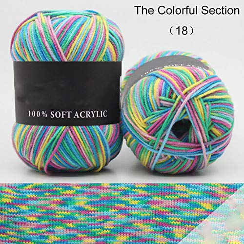 ZYS-hot1124 50g Durable Triple Brands Knitting Crochet Milk Cotton Soft Comfortable Baby Wool Yarn Lot The Colorful Section ()