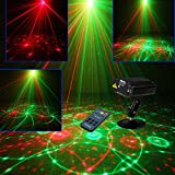 Sumger Mini Remote 12 Patterns RG Led Stage Laser Lighting Sound Active Equipment Effect Disco DJ Light Home Party Lights luces discoteca
