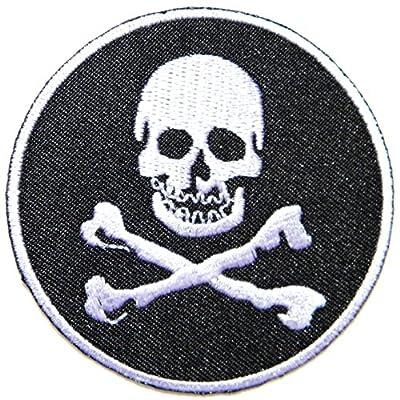 Skull Ghost Cross Bone Logo Biker Lady Rider Hippie Punk Rock Heavy Metal Tatoo Jacket T-shirt Patch Sew Iron on Embroidered Sign Badge