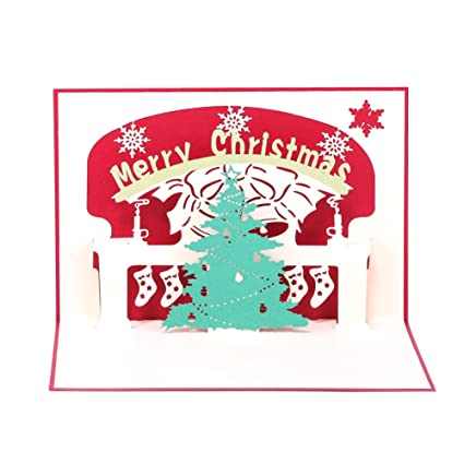 paper spiritz pop up christmas greeting card 3d holiday greeting card laser cut merry christmas happy
