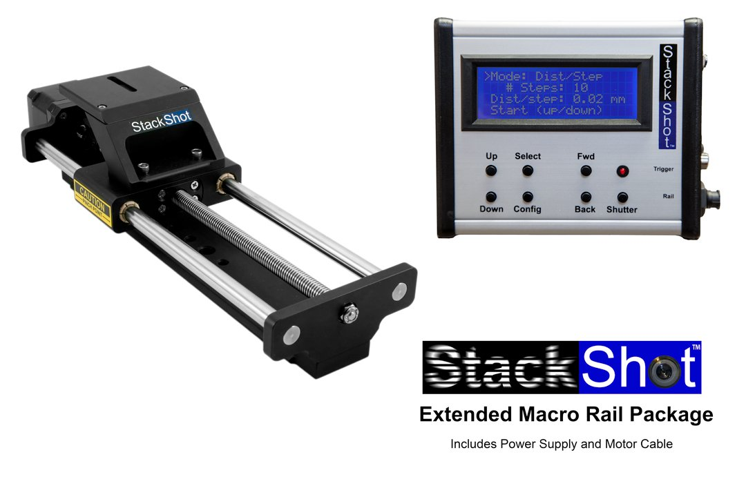 StackShot Extended Automated Macro Rail Package, US AC Adapter
