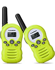 FLOUREON Walkie Talkies for Kids, Twins Two Way Radio PMR446MHZ 8 Channel Up to 3300Meters/3Miles Range Handheld Interphone for Home Communication Green