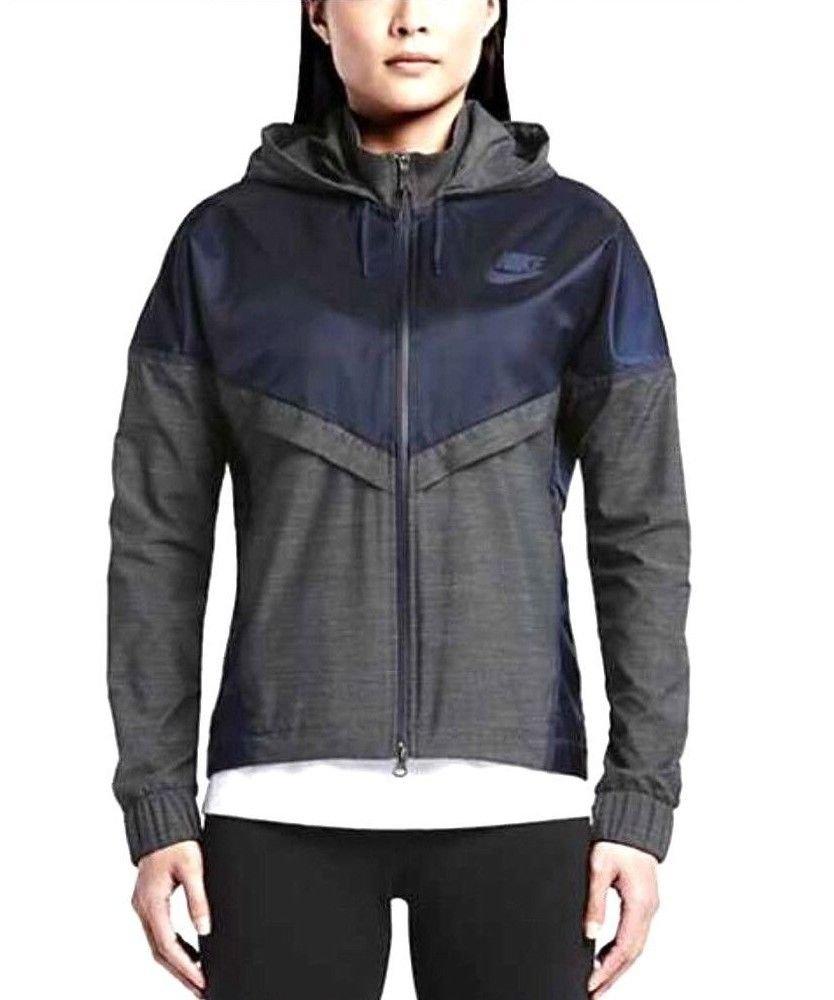 Nike Women's Bonded Windrunner Running Jacket (Obsidian/Anthracite) Large   B01AC0S2FM