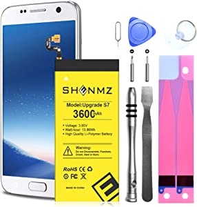 Galaxy S7 Battery,[Upgraded] 3600mAh Li-Polymer Replacement Battery for Samsung Samsung Galaxy S7 G930 G930V G930A G930T G930P with Full Replacement Kits [3 Years Warr]