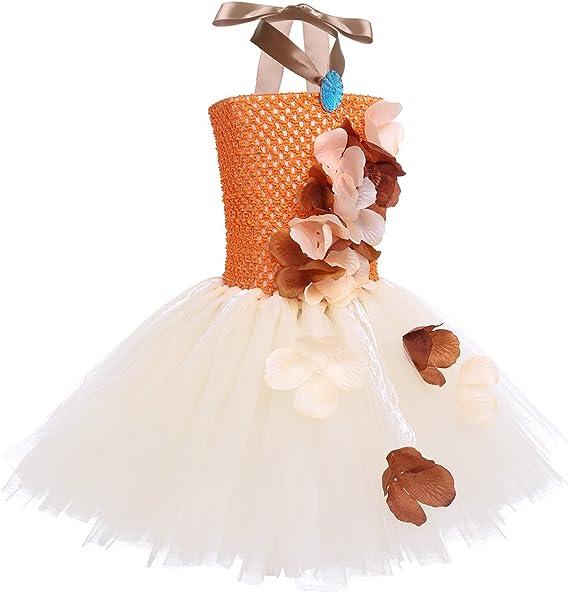 TiaoBug Vestido Flores de Princesa Niñas Tutú Vestido Encaje ...