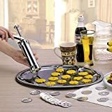 DIY Biscuit Cookie Extruder Presser Machine Biscuit Maker Cake Making Decorating Gun Cookie Tools with 20 Moulds 4 Nozzles Biscuit Baking