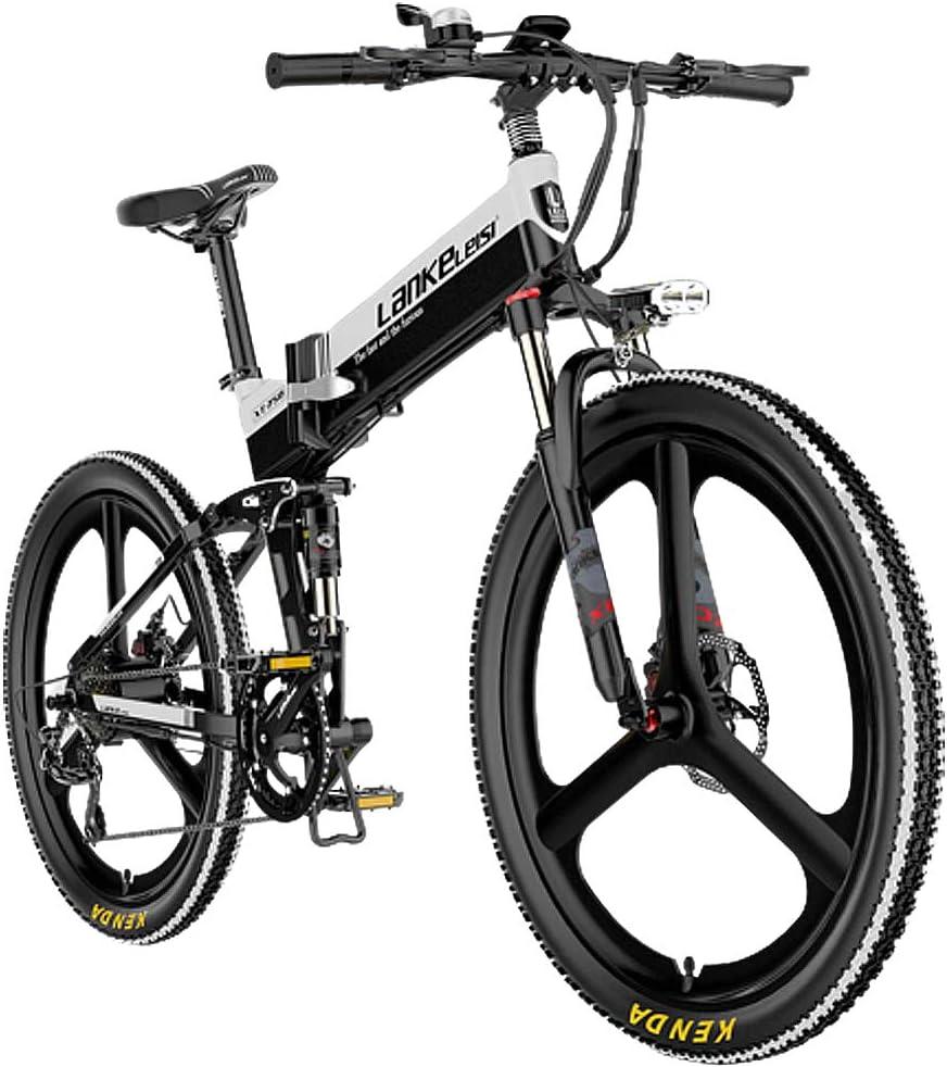 HAOYF Bicicletas Eléctricas para Adultos, Montaña Bicicletas Plegables con Borde De Aleación De Magnesio, 26