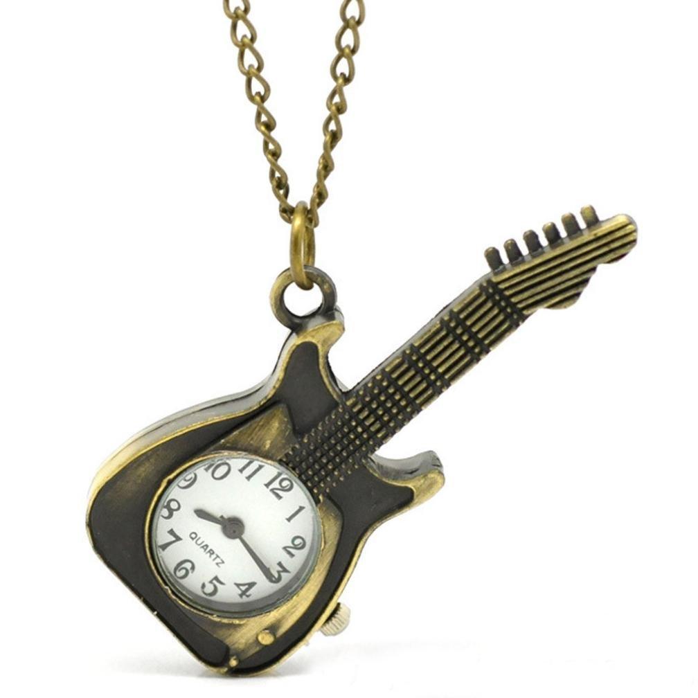 Watch Chain;START Guitar Shape Women&Men Watches Pocket Watch