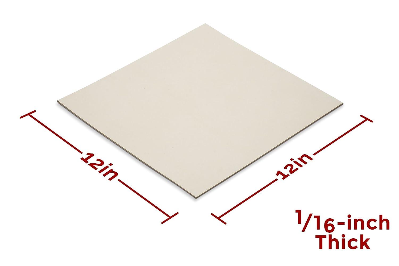 """High Grade 60A Heavy Duty Rubber Sheet 12x12-Inch by 1//16/"""" Neoprene Black"""