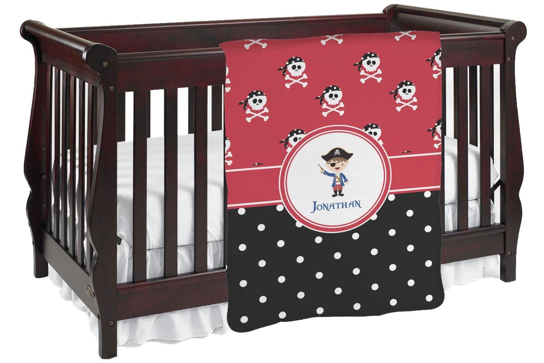 Pirate &ドットBaby Blanket ( Personalized ) Baby Blanket レッド mi-baby-blanket-fb+40886 両面  B01KIOQ6D2