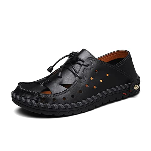 959e536ec4e Men's Casual Outdoor Sports Sandals Walking Leather Beach Fisherman Shoes  Sandal Plus Size 11 12 13