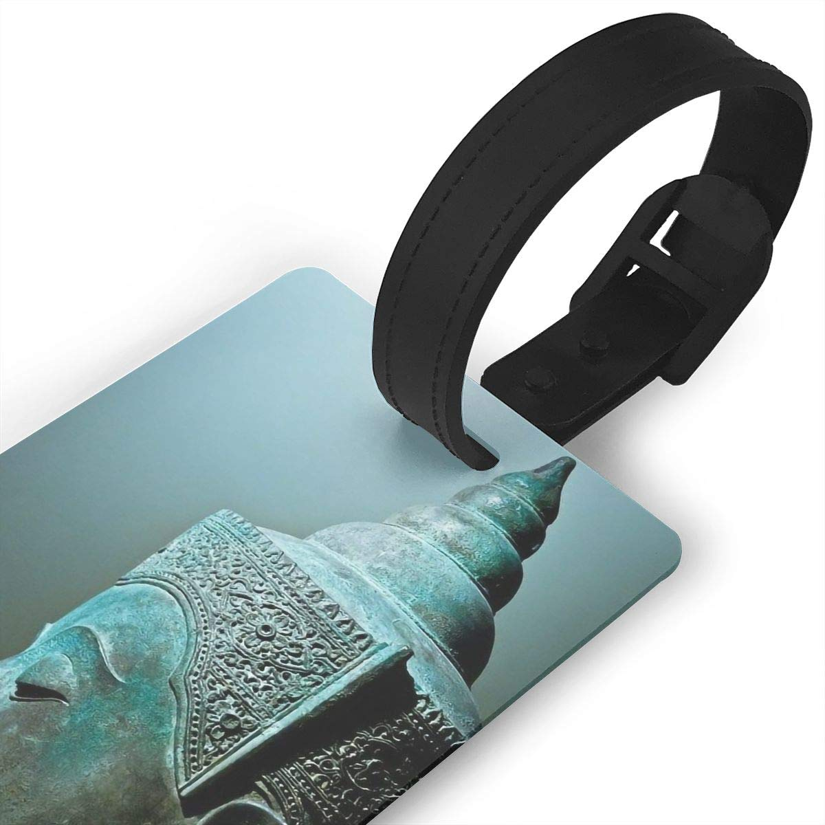Buddhism Baggage Tag For Travel Bag Suitcase Accessories 2 Pack Luggage Tags