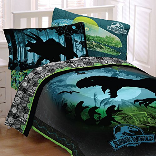 Jurassic World 4pc Twin Comforter And Sheet Set Bedding
