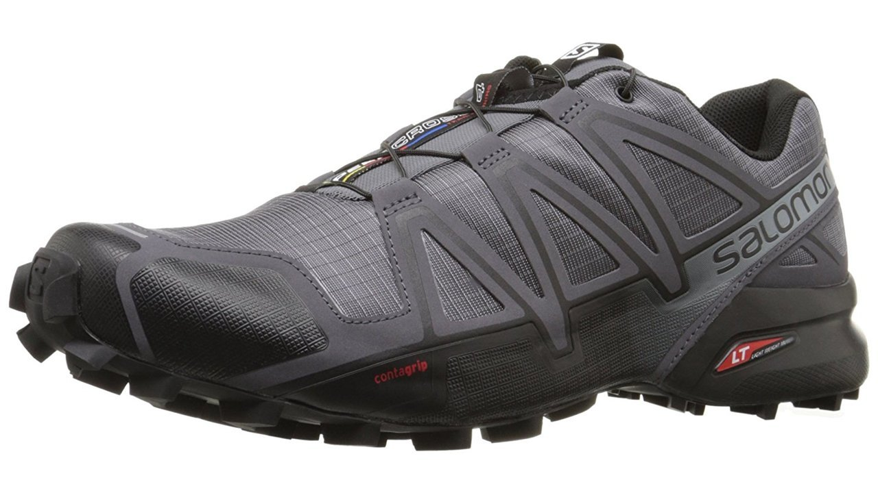 Salomon Men's Speedcross 4 Trail Runner, Dark Cloud, 9.5 M US by Salomon