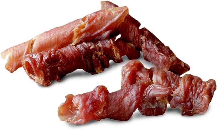 GimDog Curls - Tentempié de Carne Seca con fórmula sin Cereales y monoproteína para Perros, 6 Paquetes (6 x 55 g)