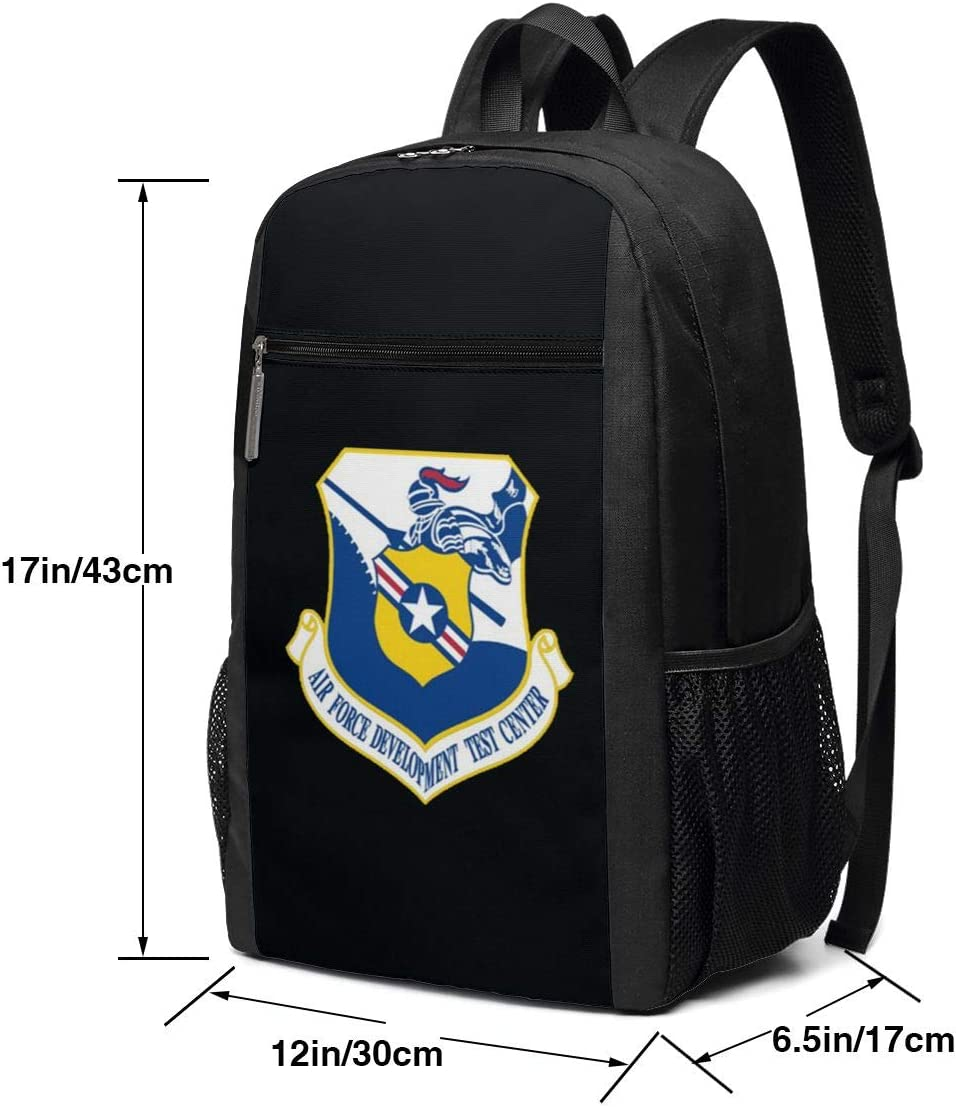 Air Force Development Test Center Vinyl Transfer Durable Multifunctional Backpack 17 Inch