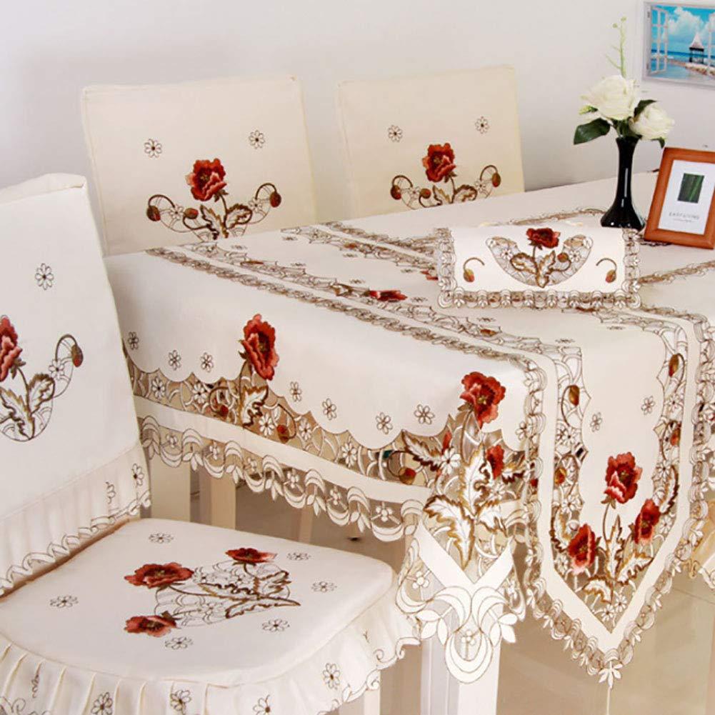 Scelet Tableau Drapeau exquise Broderie de Table Coureurs Tassel Dentelle d/écoration de la Maison