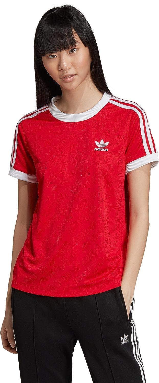 adidas Originals T Shirt Damen 3 STR Tee ED7488 Rot