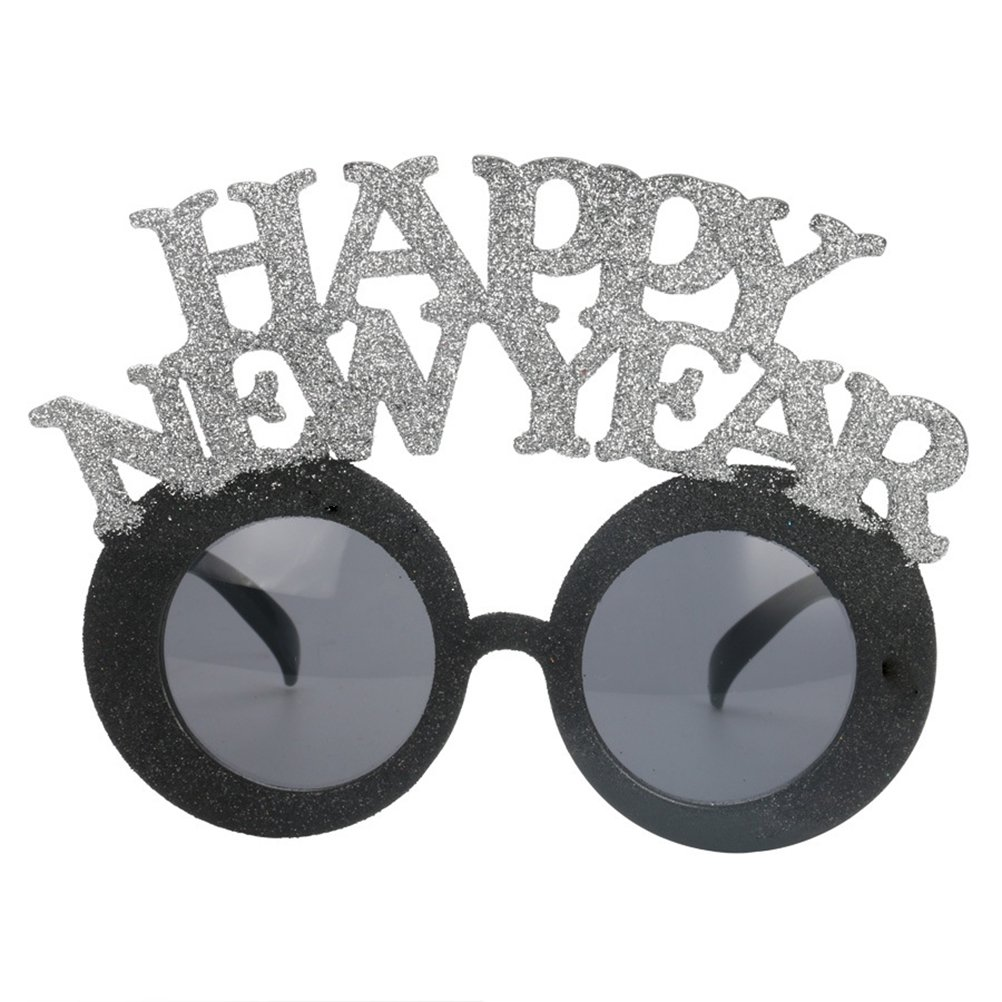 60bc6f8df0bf Amazon.com  Tinksky Happy New Year Glasses Funny Party Glasses Party Favor  Accessories Festival Supplies Decoration  Toys   Games
