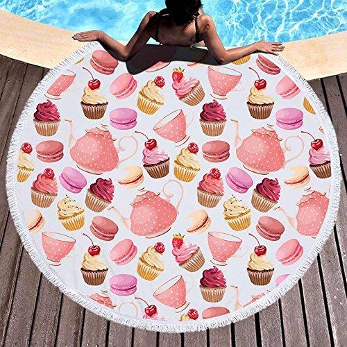 GSYAZTT Lollipop Round Beachcoat Microfibra Suave para Niños Big Albornoz Sports Towels Beach Picnic Manta Servilleta The...