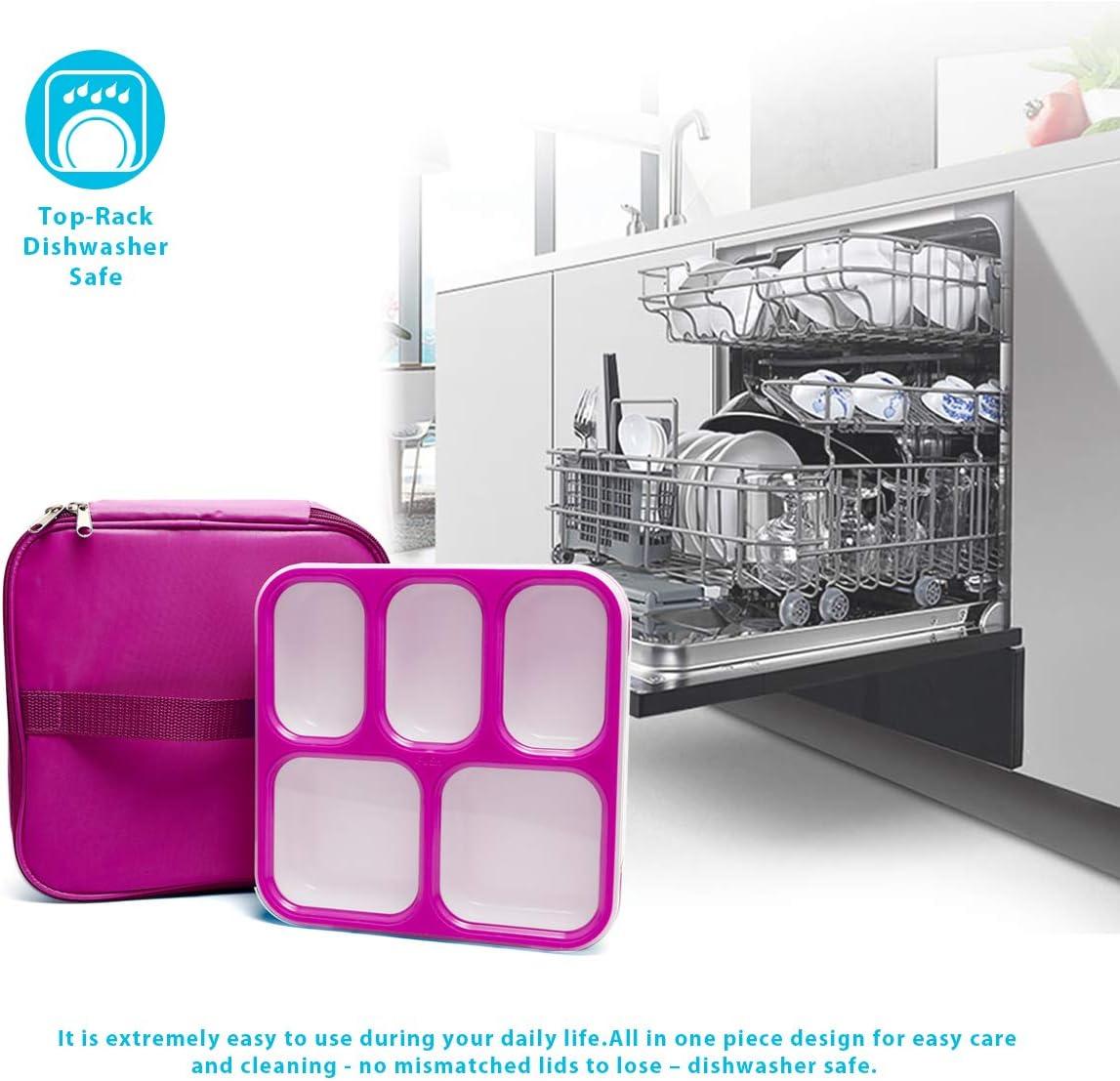 FunLife - Caja para almuerzo, ecológica, sin bisfenol A, tapa ...