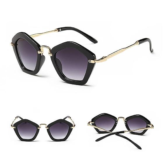 802e435dbff Fashion Brand Designer Children Sunglasses Retro Metal Eyeglasses Frame  (Black)