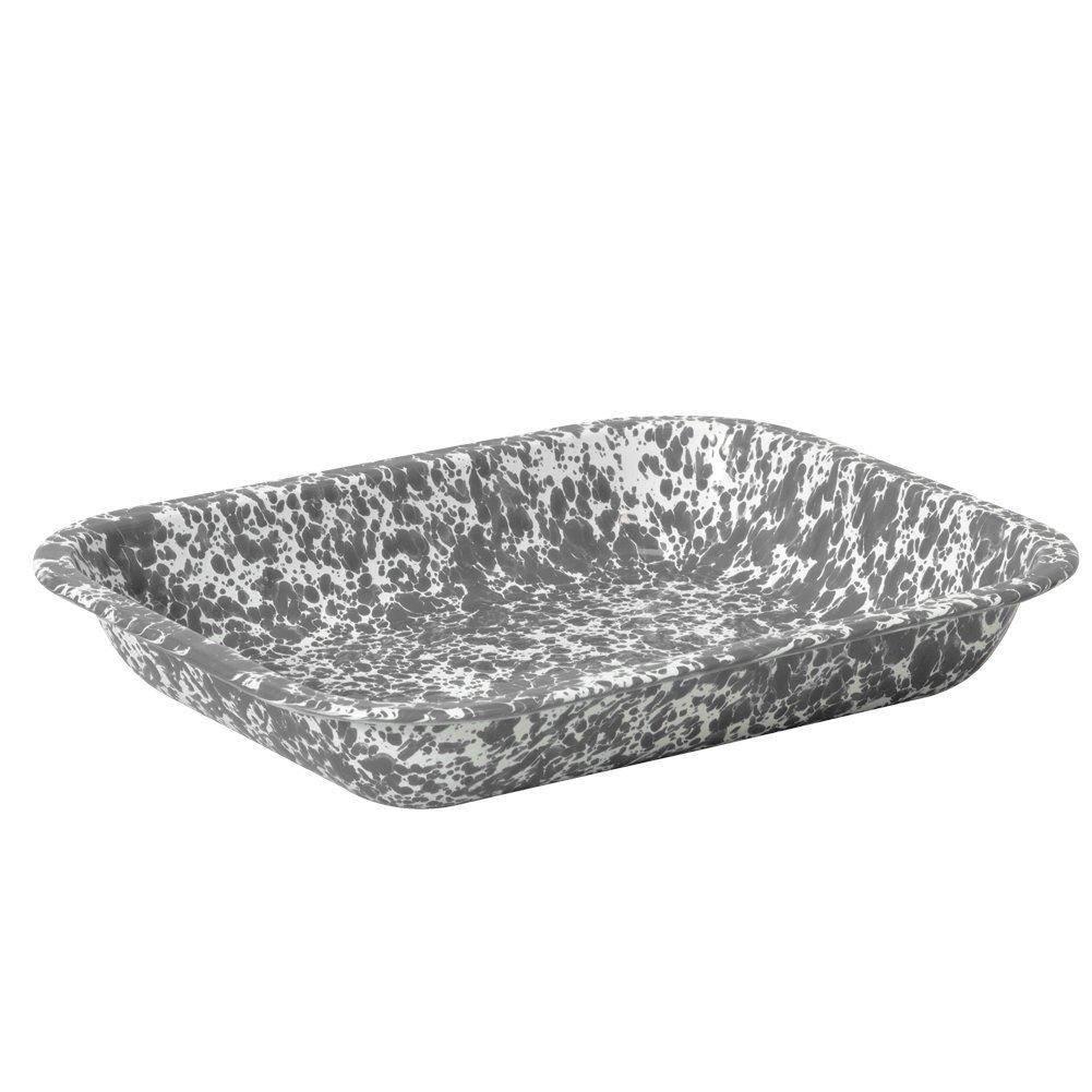 Enamelware Small Roasting Pan Black Marble