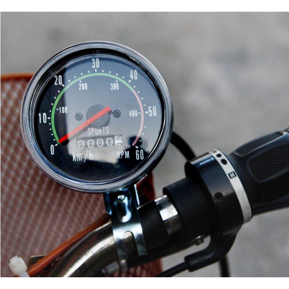 Speed Meter Bicycle Bike Analogue Odometer Speedmeter Cycling Mileage(km) Speed(km/h)